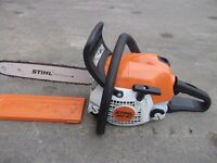 "STIHL MS181 PETROL CHAINSAW 14"" BLADE 2015 MODEL."