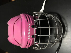 Girls hockey helmet