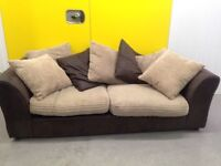"""Two seater ribbed sofa cushions including """"FREE LOCAL DELIVERY """""""