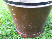 CPR Railroad bucket old cast