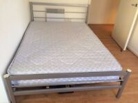 Double Metal Bed Frame and mattress