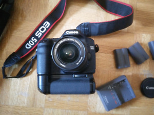Canon 50d+vertical grip+3batteries and chager+ Tripod