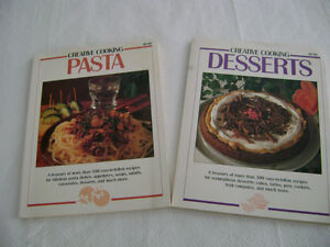 Creative Cooking 2 Books: PASTA & DESSERTS