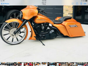 Custom Harley 26 inch stretched bagger