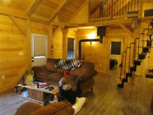Post and beam chalet camp