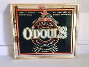 """Original Vintage Odouls Beer Pub Sign, 19.5""""x16.5"""""""
