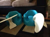 X2 bumbo chairs with trays