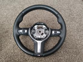 BMW M Sport Leather Steering Wheel Fits 1 2 3 4 Series F20 F22 F30 F32