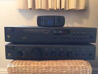 Arcam 8 CD player, Arcam 8R Amplifier, KEF iq5 Speakers(Black)
