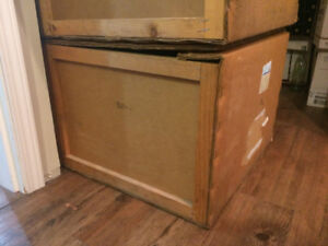 Shipping Crates - 3 - hybrid wood/cardboard. Large and Strong!