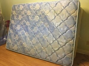 free delivery- queen mattress boxspring