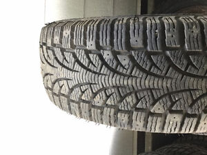 4 Pirelli tires on 5 bolt steel rims 195-55-15