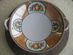 GORGEOUS OLD VINTAGE NORITAKE CHINA HANDLED BOWL