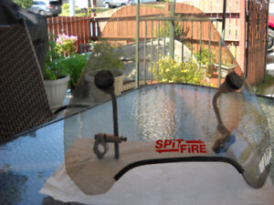 Spitfire motorcycle windsheild with brackets like new