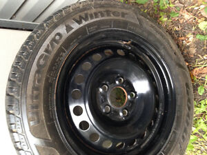 Goodyear winter tires with rims and sensors