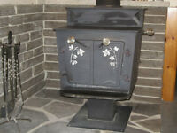 Heritage Wood Stove with chimmey