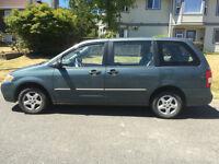 2001 Mazda MPV Sedan seven seats. Now 1999.last two days