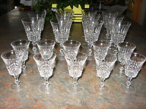 21 pc set of crystal wine & liqueur glasses in Blind Bay, BC