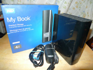 WD MY BOOK 4TB EXTERNAL HARDDRIVE