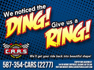 Noticed the DING! Give us a RING! Low Prices on AutoBody Repair!