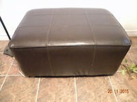 large leather foot stool / coffee table