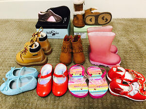 Size 3-6, size 5 baby girl shoes and sandals for sale