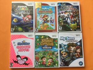 Wii: Galaxy - Mario Paper - Smooth Moves - Sims Agents...