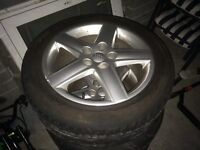"""Audi 17"""" alloys with tyres"""
