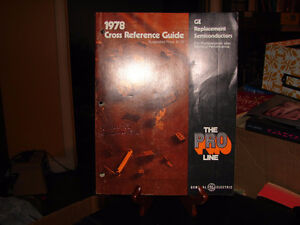 GE replacement semiconductors cross reference guide 1978