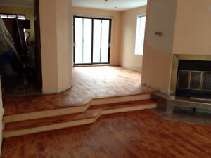 Floor sanding and installation start from 1,25$ pi2 Service A+