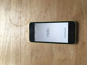 iPhone yellow 5c 16gb with case and charger. Excellent condition