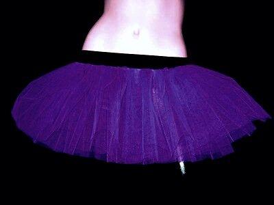 Hot Adult Plus size purple Tutu Skirt Dancer Club Fancy Rave Halloween Christmas - Adult Plus Size Tutu