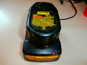 1 DeWalt charger 14.4 and battery 14.4 XR  asking 35$ left by o