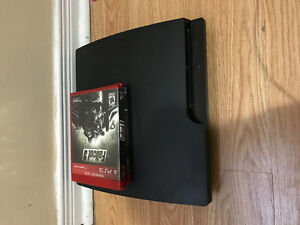 PS3 slim  300gb 1 controller 2 games
