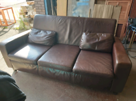 Leather sofa free to collect