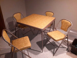 Card table andchairs