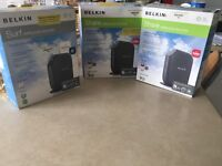 3 x Belkin wifi routers for sale all boxed and complete RRP£30 each