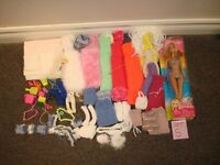 75 Piece Barbie Doll & Clothing & Accessories