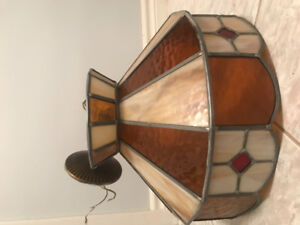 Vintage Tiffany stained glass ceiling light