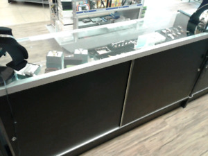 2 Black Glass Disply Cases