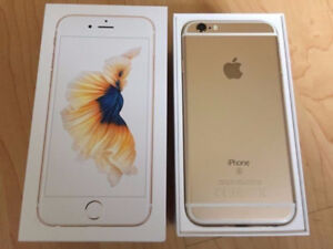 MINT 64GB IPHONE 6S WHITE GOLD+ FACTORY UNLOCKED+ACCESSORIES