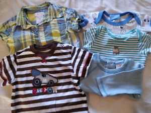 Boys 3-6 month onesies and shirt