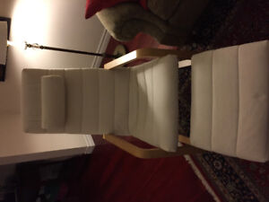 IKEA Poang chair with stool