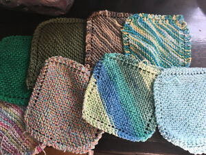 Hand-knit dish cloths for sale