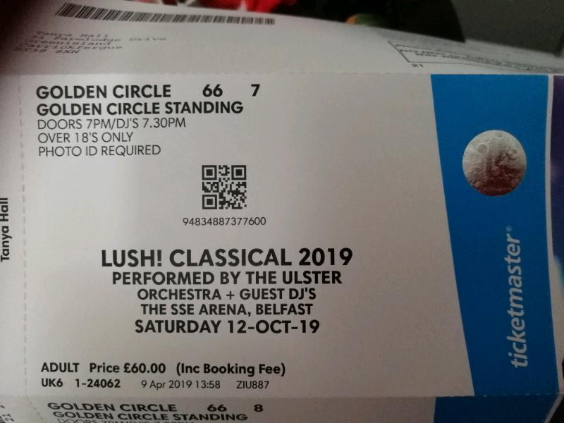 Lush Classical GOLDEN CIRCLE ticket 2019 | in Greenisland ...