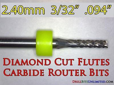 332 Carbide Router Bit - Diamond Cut Flutes - Super Value Cnc Pcb Dremel Ft