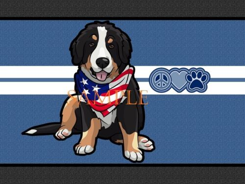 Bernese Mountain Dog Breed Flag Bandana Home Doormat Door Mat Floor Rug