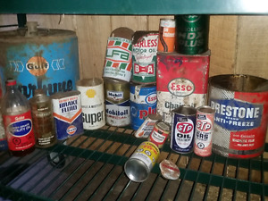 Various oil / automotive tins