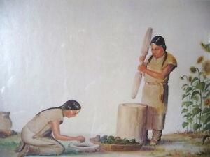 "Iroquois Artist Lithograph, Ernest Smith ""Making SunFlower Oil"" Stratford Kitchener Area image 3"