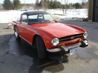 Red 1974 TR6 in very good original condition
